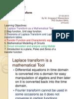 Application of Laplace Transform