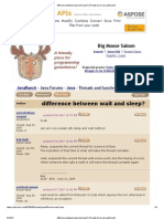Difference Between Wait and Sleep_ (Threads Forum at JavaRanch)