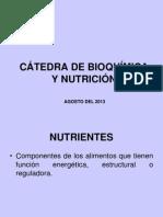 CÁTEDRA DE BIOQUÍMICA Y NUTRICIÓN