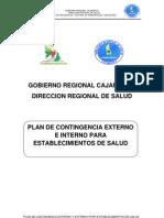 Plan de Contingencia Externo e Interno Para Establecimientos de Salud