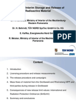 Long-Term Interim Storage and Release of Radioactive Material - Dr. H. Behrndt