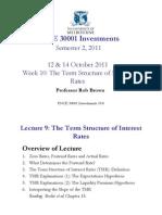 FNCE 30001 Week 10 TSIR Revised(1)