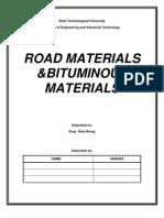 Road Materials & Bituminous Materials