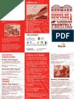 Gangs of New York Festival Brochure