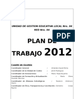 Plan de Trabajo de La Red Educativa 04 CCESA