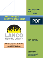 Lanco Amarkantak Power Ltd Korba Mechanical Vocational Training Report 2-Haxxo24 I~I