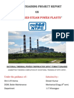 NTPC (National Thermal Power Corporation) Sipat Mechanical Vocational Training Report 1-Haxxo24 I~I