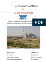 NTPC (National Thermal Power Corporation) Sipat Mechanical Vocational Training Report 2-Haxxo24 I~I