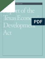Texas Comptroller's Report on Econ Development Act