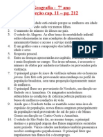 Geografia - 7ºano - CORREÇÃO do cap_ 11 e folha de revisão