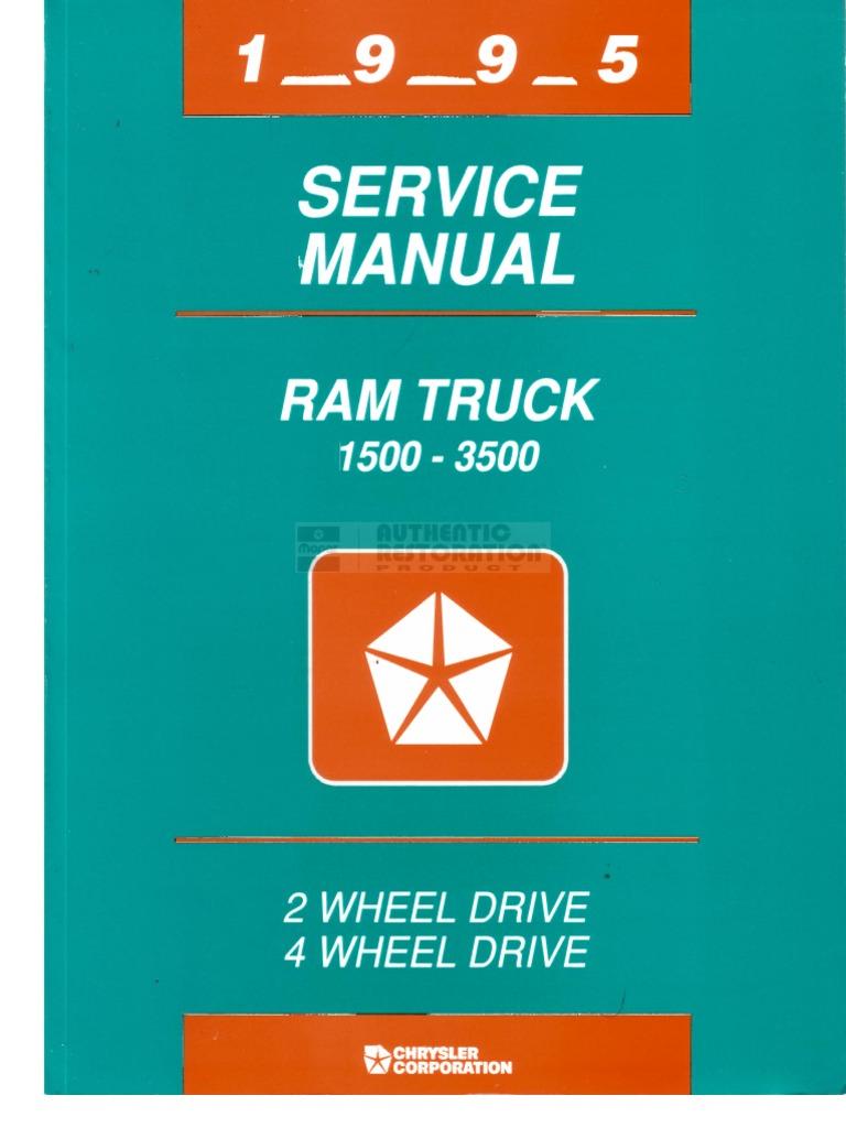 1995 dodge ram service manual pdf rh scribd com Tailgate for 2007 Dodge Ram 1500 1995 dodge ram 2500 repair manual