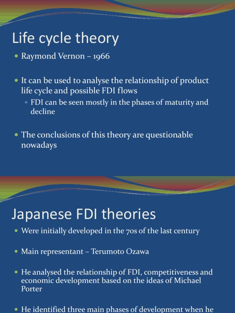 product life cycle theory of fdi