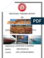 South East Central Railway (SECR) Bilaspur Mechanical Vocational Training Report 1-Haxxo24 I~I