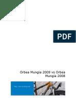 Comparativa Orbea Mungia 2008 vs. Orbea Mungia 2009