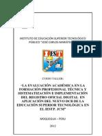 TÉCNICAS E INTRUMENTOS DE EVALUACIÓN. RESUMEN