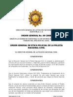 Policianacional Numeral 29 Orden General Numero 69 Moral y Etica Enero 2011