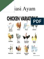 Variasi Ayam