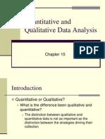 Week 5, Unit 2 Quantitative and Qualitative Data Analysis