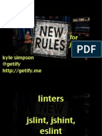New Rules for JavaScript Presentation