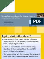 Storage Design for Datawarehousing