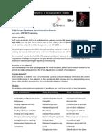 IMIT SQL Server Database Administration Course  + ASP. NET