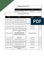 CAST 2013 Agenda