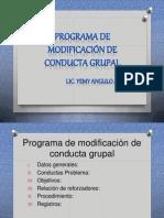 Programa de Modificacion de Conducta Grupal