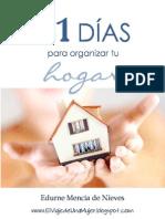 31 días para organizar tu hogar