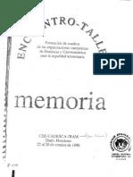 Dufumier. Memoria Taller