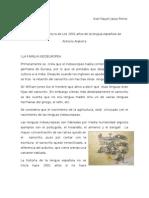 Cuadros de Reportes de lectura de Los 1001 años de la lengua española de