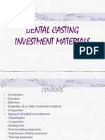 Dental Casting Investment Materials