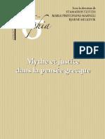 Mythe et justice dans la pensée grecque