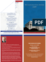 Lincoln Day Dinner Brochure