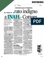 Entrevista al antropólogo Bolfy Cottom sobre lo ocurrido en el INAH