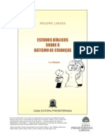 Philippe Landes - Estudos bíblicos sobre o batismo de crianças (1)