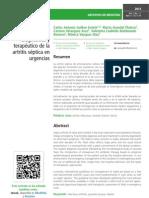 Guía de manejo diagnóstico y terapéutico de la artritis séptica en urgencias