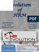 Evolution of HR