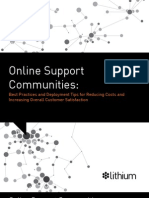 Online Support Communities - Best Practices