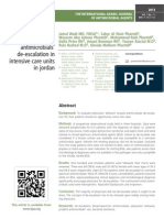 Physicians compliance with antimicrobials' de-escalation in intensive care units in jordan