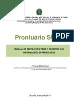 Manual de orientação para preencimento do Prontuário SUAS