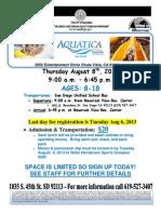 Aquatica 2013 Flyer