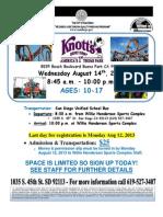 Knotts Berry Farm 2013 Flyer