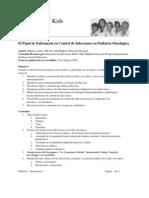 El Papel de Enfermería en Control de Infecciones en Pediatría Oncológica #2