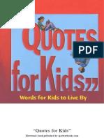Citati Za Decu (Na Engl)