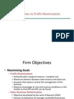 Alternative to Profit Maximisation