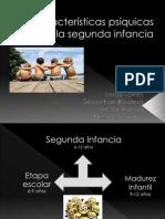 Características psíquicas de la segunda infancia