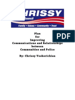 Plan for Improving Communications and Relationships between Communities and Police