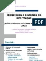 Bibliotecas e sistemas de informação