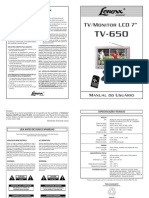 MANUAL Tv650 5a Fev 12