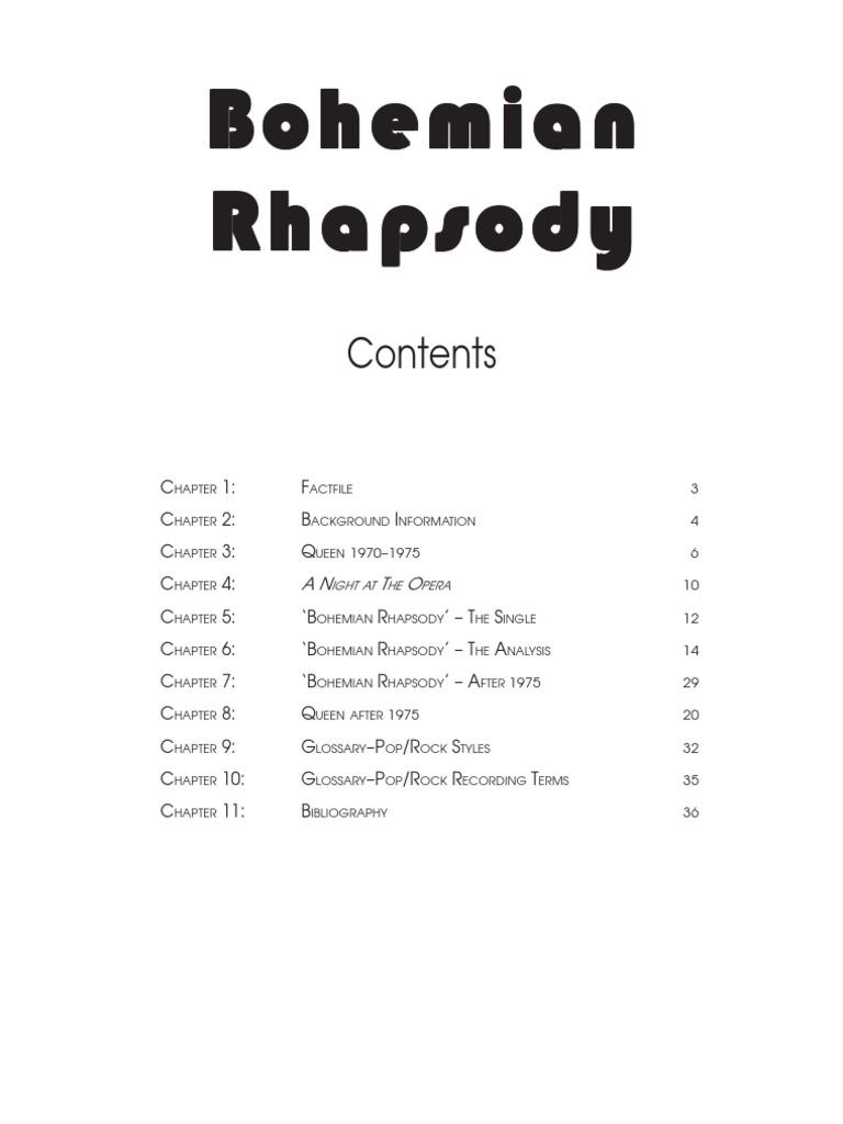 Bohemian Rhaps Popular Music Musical Forms